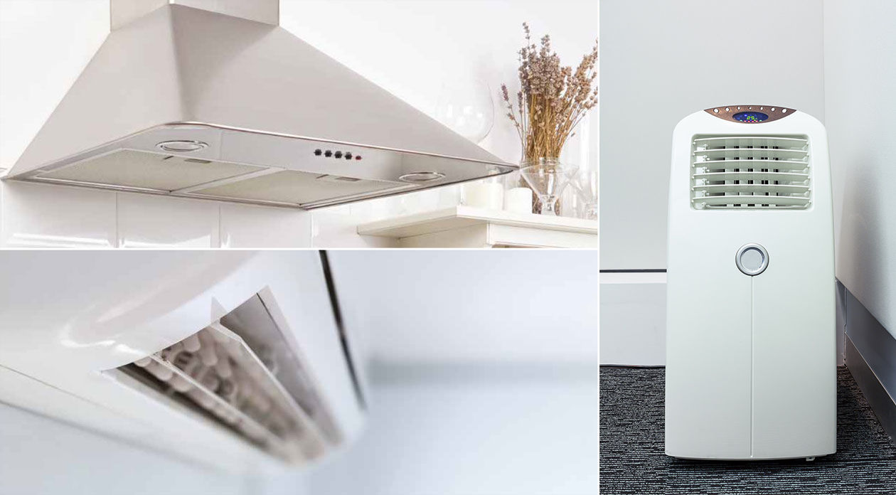 Recirculation systems, kitchen hoods and air purifiers integrated with UpSens sensors for reducing indoor pollution